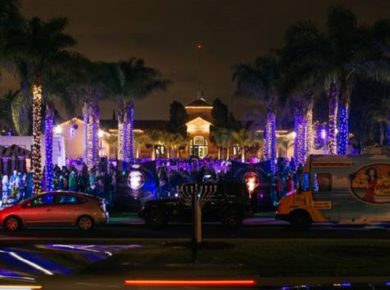 Liberty Station's Hanukkah Celebration And Menorah Lighting At The LOT