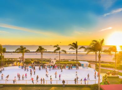 Opening Day Of Skating By The Sea At The Hotel Del Coronado Is Here!