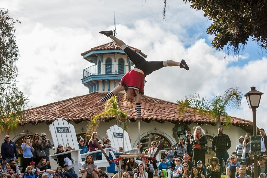 The 14th Annual Spring Busker Festival At Seaport Village