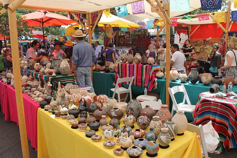 Latin American Festival And Mata Ortiz Pottery Market At Bazaar Del Mundo