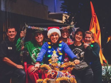 Cyclists In Their Best And Ugliest Holiday Attire Deck Their Bikes To Light Up Balboa Park
